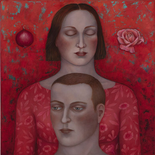 'Together' oil on canvas 75 x 75cm
